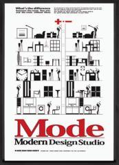 取寄せ品 送料無料 Modern design studio Mode IMD-11103 インテリアアートポスター額付