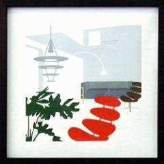 取寄せ品 送料無料 Toshiaki Yasukawa ITY-14042 インテリアアートポスター額付
