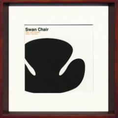 取寄せ品 送料無料 Toshiaki Yasukawa Swan Chair ITY-14046 インテリアアートポスター