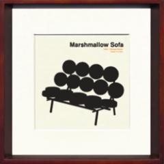 取寄せ品 送料無料 Toshiaki Yasukawa Marshmallow Sofa ITY-14285 インテリアアートポスター