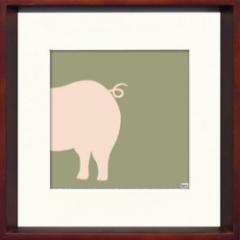 取寄せ品 送料無料 Toshiaki Yasukawa Pig ITY-14286 インテリアアートポスター