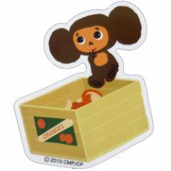 チェブラーシカ オレンジ miniステッカー 防水加工 キャラクターシール メール便可