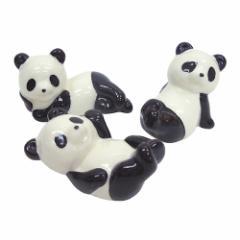 キュートなパンダの箸置き3個セット 面白食器ギフト