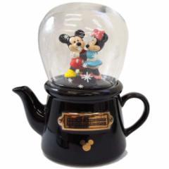 ミッキー&ミニー スノードーム ティーフォーワン ティーポット ティーカップ ディズニー食器