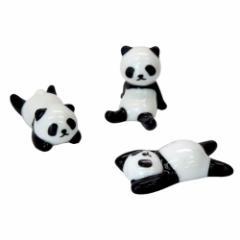 パンダ 箸置き3点セット 面白食器ギフト