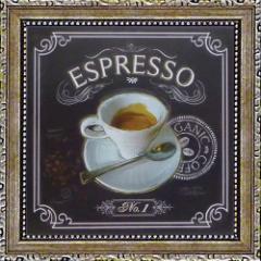 取寄品 チャドバレット コーヒーハウス エスプレッソ ミニゲルアートフレーム プチプラインテリアART