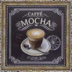 取寄品 チャドバレット コーヒーハウス カフェモカ ミニゲルアートフレーム プチプラインテリアART
