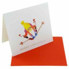 Xmas クリスマス いわさきちひろ スキーをする子ども グリーティングミニカード ギフトカード メール便可