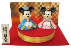 雛人形 キャラクター ミッキー&ミニー ちりめん台ひな人形 吉徳 ディズニーキャラグッズ シネマコレクション