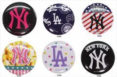 ニューヨークヤンキース 缶バッジ MLB 野球 キャラクターグッズ通販