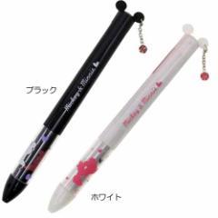 ミッキー&ミニー mimiペン ピアスver 黒赤2色ボールペン ディズニーキャラクター 文具 筆記用具 メール便可