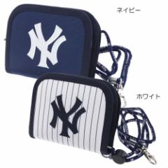 ニューヨークヤンキース 子供用財布 横型ラウンドウォレット野球 野球チームグッズ