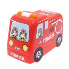 トミカ お弁当箱 3D立体2段ランチボックス 中子付 消防車 キャラクターグッズ