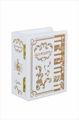 取寄品 ピアノ ホワイト オルゴール ブック型木製Aメロディ G-6285WH インテリア雑貨