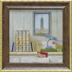 取寄品 アニー・フィスク 静物画 ミニゲルアートフレーム ニューヨークトラベラー インテリア雑貨