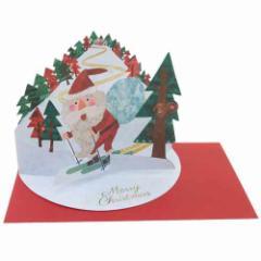 Xmas クリスマス グリーティングカード スタンディングカード コロボックル サンタスキー クリスマスカード雑貨