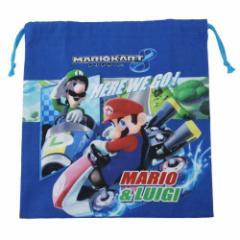 スーパーマリオ 巾着袋 きんちゃくM マリオカート8 キャラクターグッズ