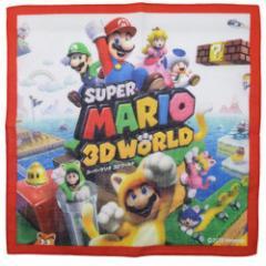 スーパーマリオ ハンカチ スーパーマリオ3Dワールド キャラクターグッズ