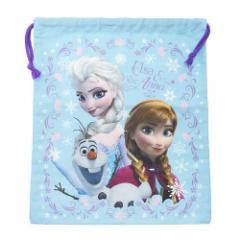 アナと雪の女王 巾着袋 きんちゃくポーチL スカイブルー ディズニー キャラクターグッズ