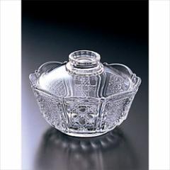 取寄品 硝子風物詩 ガラス鉢 蓋物鉢 F-70025 日本製石塚硝子