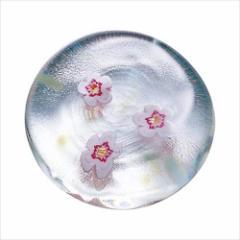 取寄品 津軽びいどろ 箸置き ガラス箸置 5個セット 春のしつらえ 梅 テーブルウエア石塚硝子