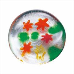 取寄品 津軽びいどろ 箸置き ガラス箸置 5個セット 秋のしつらえ 紅葉 テーブルウエア石塚硝子