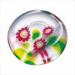 取寄品 津軽びいどろ 箸置き ガラス箸置 5個セット 冬のしつらえ 椿 テーブルウエア石塚硝子