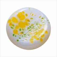 取寄品 津軽びいどろ 箸置き ガラス箸置 5個セット 春のしつらえ オパール黄 テーブルウエア石塚硝子