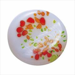 取寄品 津軽びいどろ 箸置き ガラス箸置 5個セット 秋のしつらえ オパール橙 テーブルウエア石塚硝子