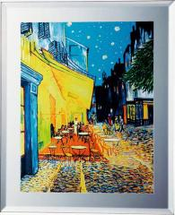 取寄品 ヴィンセント・ヴァン・ゴッホ 名画 ミラーアート 夜のカフェテラス ミュージアムシリーズ雑貨