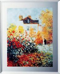 取寄品 クロード・モネ 名画 ミラーアート 庭園のアーチスト ミュージアムシリーズ雑貨