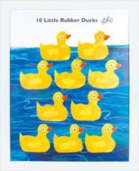 取寄品 送料無料 エリック・カール キッズアート 額付きポスター 10わのあひる 絵本キャラクターグッズ