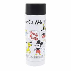 ミッキー&フレンズ 水筒 ステンレスボトル ホワイト ディズニー キャラクターグッズ