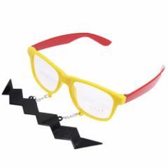 おもしろメガネ/コスプレメガネ 面白サングラス ギザ髭 仮装 イベントグッズ通販