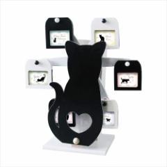 取寄品 クロネコ 写真立て オルゴール付き回転式フォトフレーム 星に願いを ねこ インテリアギフト通販