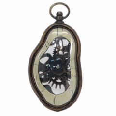 壁掛け時計 メルティングクロック アンティークゴールド インテリア雑貨通販
