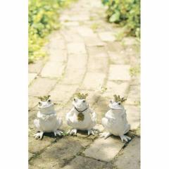 取寄品 FROG オブジェ ガーデンオーナメント 三匹セット カエル おしゃれインテリア雑貨通販