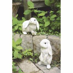 取寄品 RABBIT オブジェ ガーデンオーナメント M 二匹セット ウサギ おしゃれインテリア雑貨通販