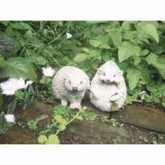 取寄品 HEDGEHOG オブジェ ガーデンオーナメント 二匹セット ハリネズミ おしゃれインテリア雑貨通販