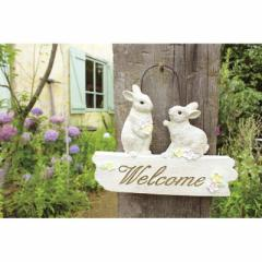 取寄品 WELCOME ANIMALS 玄関プレート ウェルカムプレート L ウサギ 動物 おしゃれインテリア雑貨通販