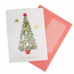 クリスマスカード インポートハンドメイドカード オーナメントツリー Xmasギフト雑貨グッズ メール便可