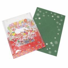 クリスマスカード ミニサンタクリアBOXカード 66536 Xmasギフト雑貨グッズ メール便可