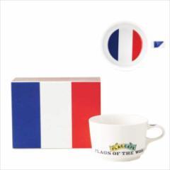 取寄品 国旗 ポストカード マッチ箱 ギフトボックス入り フラッグカフェ マグカップ フランス FRANCE 日本製