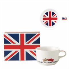 取寄品 国旗 ポストカード マッチ箱 ギフトボックス入り フラッグカフェ マグカップ イギリス UK 日本製