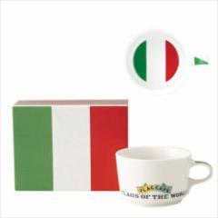取寄品 国旗 ポストカード マッチ箱 ギフトボックス入り フラッグカフェ マグカップ イタリア ITALY 日本製