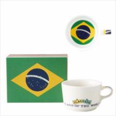取寄品 国旗 ポストカード マッチ箱 ギフトボックス入り フラッグカフェ マグカップ ブラジル BRAZIL 日本製