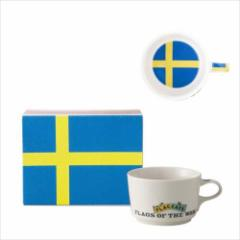 取寄品 国旗 ポストカード マッチ箱 ギフトボックス入り フラッグカフェ マグカップ スウェーデン SWEDEN 日本製