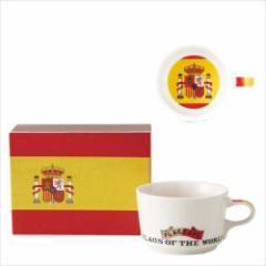 取寄品 国旗 ポストカード マッチ箱 ギフトボックス入り フラッグカフェ マグカップ スペイン SPAIN 日本製