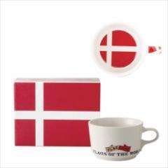 取寄品 国旗 ポストカード マッチ箱 ギフトボックス入り フラッグカフェ マグカップ デンマーク DANMARK 日本製