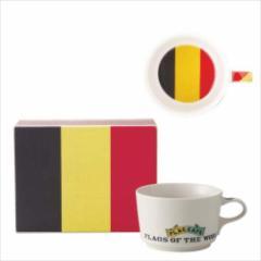 取寄品 国旗 ポストカード マッチ箱 ギフトボックス入り フラッグカフェ マグカップ ベルギー BELGIUM 日本製